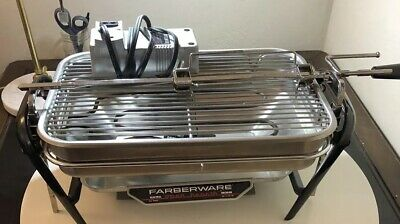 Farberware Open Hearth Stainless Electric Broiler Grill Rotisserie - Excellent