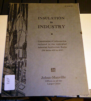 Vintage 1944 Johns-Manville Insulation in Industry