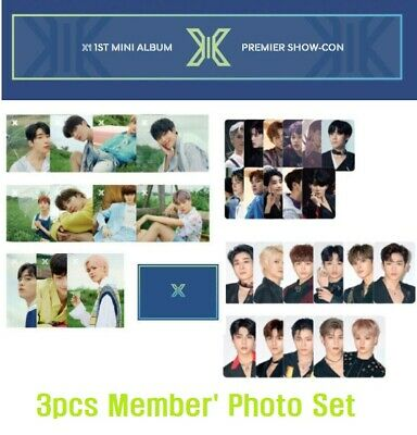 PRODUCE X X1 SHOW-CON Official Goods 2 PHOTOCARD + 1 POST CARD MEMBER SET