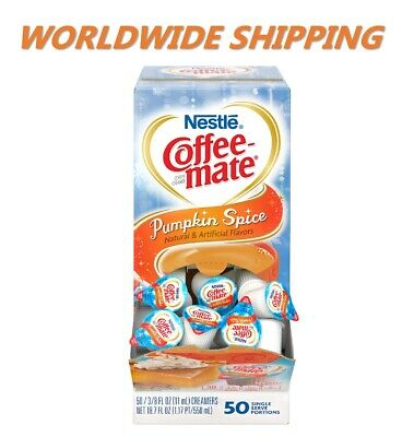 Nestle Coffee Mate Pumpkin Spice Liquid Coffee Creamer 50 Ct