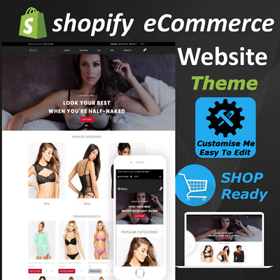 ⭐ eCommerce Website Shopify Store Template Theme - Start Your Online Businesses⭐