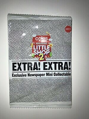 Coles Little Shop 2 Newspaper Mini Collectable New In Bag Unopened