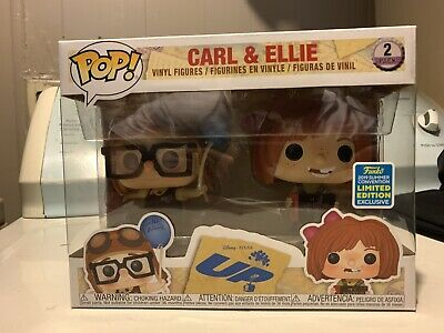 Funko Pop! Disney UP Carl & Ellie 2 Pack 2019 Summer Convention Shared Exclusive