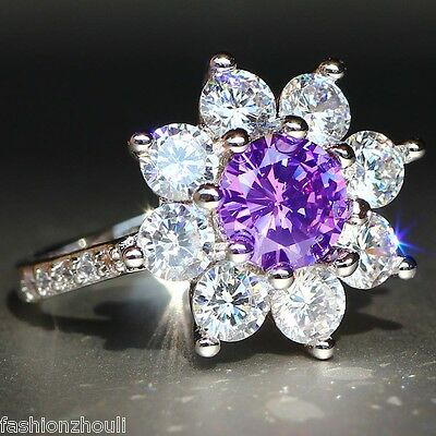 6.5CT Green/&Blue/&Pink Sapphire 925 Silver Hummingbird Animals Engagement Ring Ms