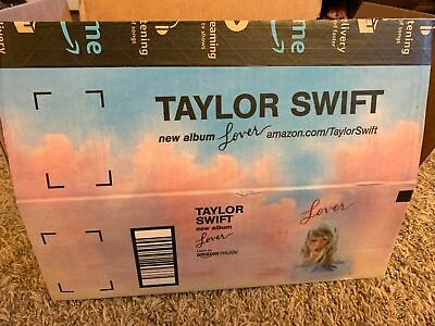 Taylor Swift Amazon Shipping Box RARE New Lover Album Promo Box Only
