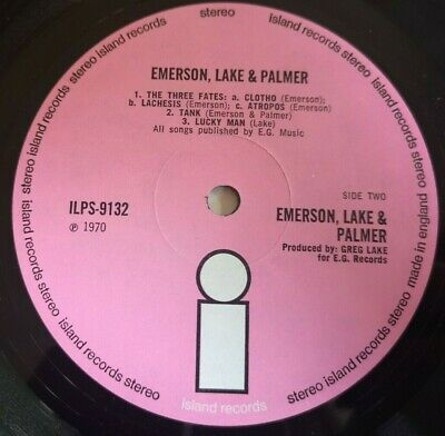 ELP Emerson Lake & Palmer LP Same UK Pink Island 1st press LOVELY COPY++