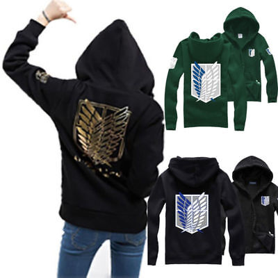 Cool Attack on Titan Felpa Anime Cosplay Shingeki no Kyojin Felpa con cappuccio
