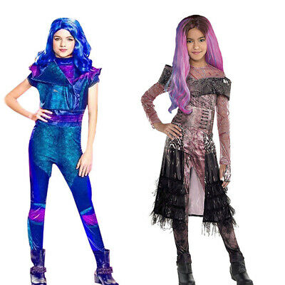 🍁 Kids Girls Jumpsuit Fancy Dress Halloween Cosplay Costumes Descendants 3 Mal