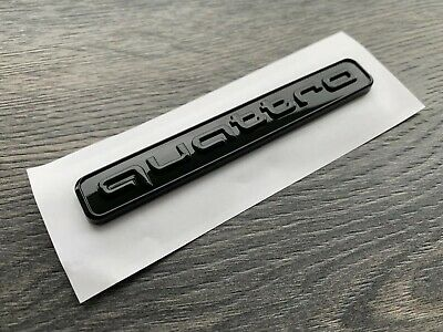 Audi Quattro Full Gloss Black Wing Badge Boot Trunk Emblem New Style A1 A3 A4 A5