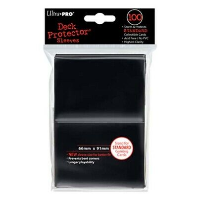 Ultra Pro Deck Protector Sleeves Pack: Black Solid 100ct