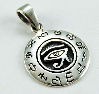 Sterling Silver 925 Egyptian Eye of Horus Pendant Necklace
