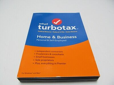 New - 2018 TurboTax Home & Business Tax Preparation Software Disc PC & Mac