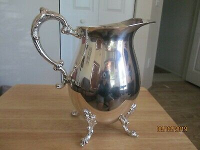 Sheridan Vintage Water Pitcher Footed Silverplated