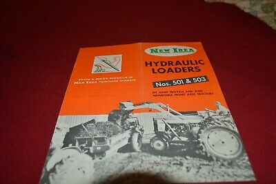 New Idea 501 & 503 Hydraulic Loaders Dealer's Brochure AMIL15