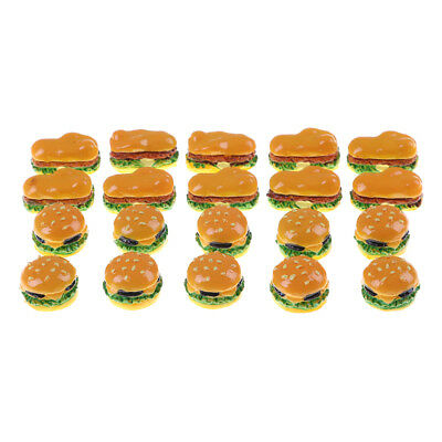 4Pcs Mini Hamburgers Miniature Food Models Dollhouse Accessories New Arrival FO