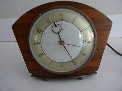 Vintage 1950-60s METAMEC Wooden Frame Electric Retro Mantle Clock-needs attenti