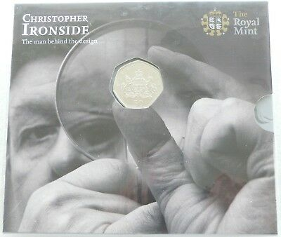 2013 Royal Mint Christopher Ironside Royal Arms 50p Fifty Pence Coin Pack Sealed