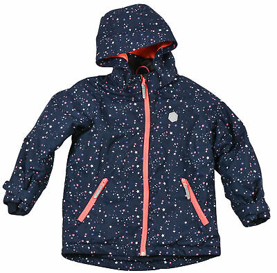 H&M KID girl little women jacket EUR122. 6-7 YEARS dark blue hooded Authentic