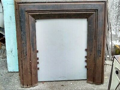 Antique Late 1800s Cast Iron Fireplace  Frame - Surround W.Jackson Mfg.#29