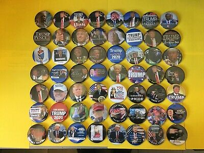 Donald Trump Buttons for President 2020, collection set of 56 Buttons . 2.25""