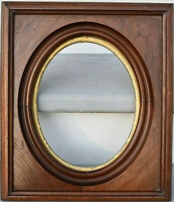 Antique Aesthetic DATED 1871 Victorian Walnut 8 x 10 Picture Frame GOLD GILT