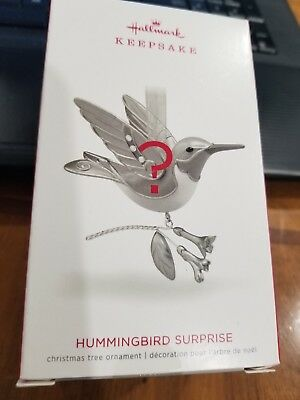 NIB 2018 Hallmark Hummingbird Surprise Beauty of Birds Christmas Ornament SEALED