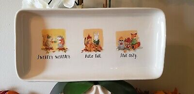 NEW Rae Dunn FALL Hello Fall / Sweater Weather / Stay Cozy Serving Platter Tray