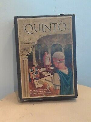 VINTAGE 1964 QUINTO BOARD GAME of Numbers Bookshelf Scrabble by 3M Toys