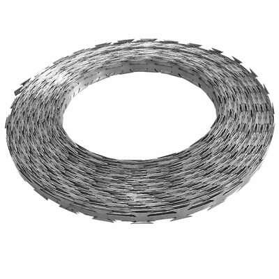 vidaXL Razor Wire 13.8' Galvanized Steel Chain Helical Barbed Fence Accessory