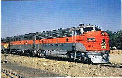 WESTERN  PACIFIC          F-7 # 805-D leading train at San Jose, CA in 1970
