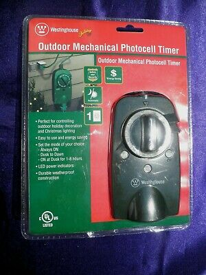 Westinghouse Outdoor Mechanical Photocell Countdown Timer - Weatherproof - NEW