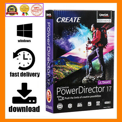 CyberLink PowerDirector Ultimate 17 🔥 LifeTime key 🔑 E-mail Delivery