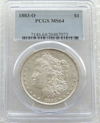 1883-O United States Morgan $1 One Dollar Silver Coin PCGS MS64 New Orleans