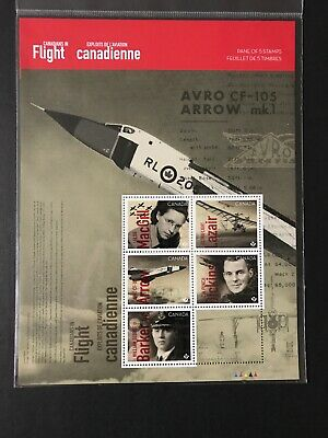 Canada Stamps MNH New 2019 Canadians In Flight Souvenir Sheet Of 5 Never Opened!