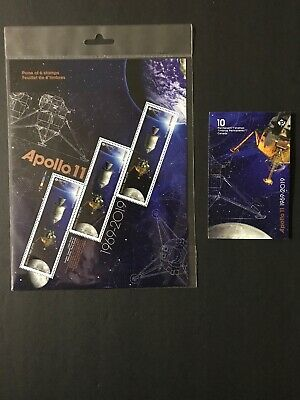 Canada Stamps MNH New 2019 Apollo 11 Pane Of 6 Still Sealed & Booklet Of 10.