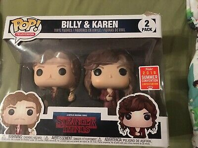 Funko Pop! Television: Stranger Things Billy and Karen 2-pack SDCC 2018