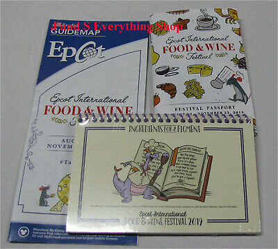 2019 Epcot Food and Wine Festival Figment note pad/ recipe book +more Disney