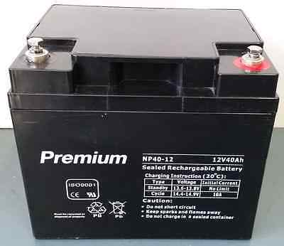 40AH12v  AGM deep cycle  battery for scooter, golf buggy, camping