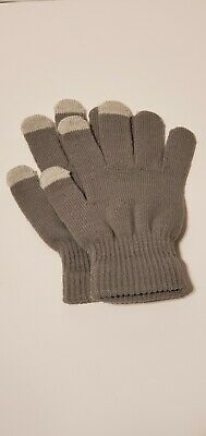 Men Women Winter Warmer Knit Knitted Casual Gloves Stretch One Size Gray