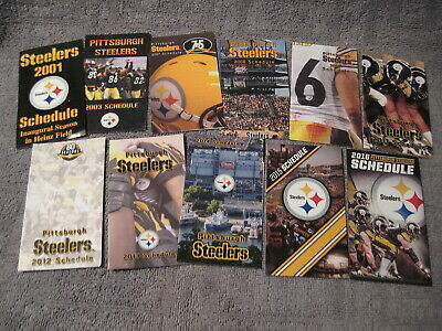 PITTSBURGH STEELERS - 2001 to 2016 pocket schedule lot of (11) different - NFL