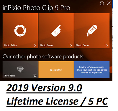 ✔️ Inpixio Photo Clip 9 Pro Latest Photo Editor Full Version ✔️ Instant Download