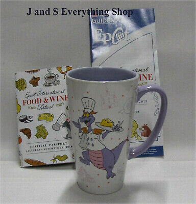 2019 Epcot Food and Wine Festival Passholder Figment Coffee Cup + more Disney