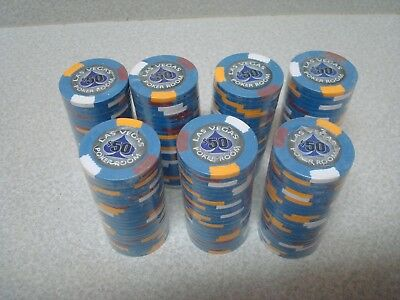 175 pcs Las Vegas Poker Room Poker Chip $ 50 Blue 14 Gram