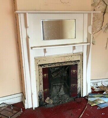 Cast Iron Fireplace Insert With Timber Mantle