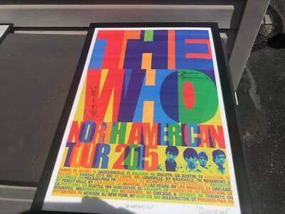THE WHO 2015 TOUR POSTER LITHOGRAPH SIGNED / AUTOGRAPHED BY Townshend & Daltrey