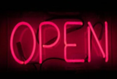 "Open Neon Sign Acrylic 14"" Light Lamp Decor Beer Pub Ice Cream Cafe Bar Pizza"