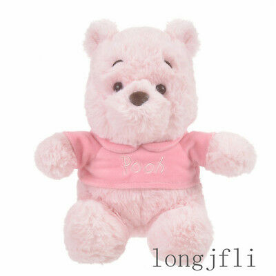 Japan Disney Winnie the Pooh Pooh Bear Pink SAKURA Lovely Plush Doll Toy 25cm