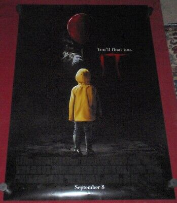 IT Movie Poster 27 x 40 D/S Stephen King Chapter 1 Pennywise Bill Skarsgard NEW