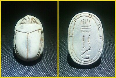 EGYPTIAN ANTIQUE ANTIQUITY Scarab Beetle Khepri Figure Sculpture 1549-1171 BC