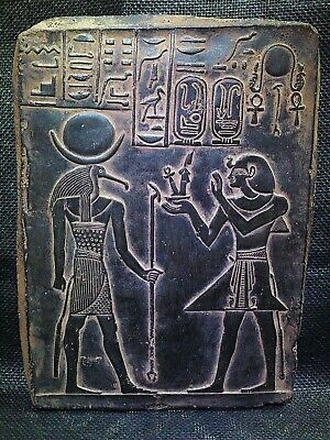 EGYPTIAN ANTIQUE ANTIQUITY Ramses III And Thoth Stela Stele 1217-1256 BC